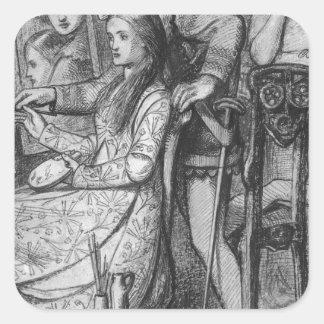 A Parable of Love by Dante Gabriel Rossetti Square Sticker