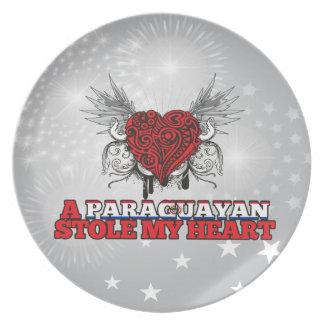 A Paraguayan Stole my Heart Dinner Plate