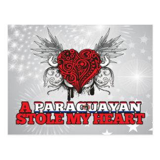 A Paraguayan Stole my Heart Postcard