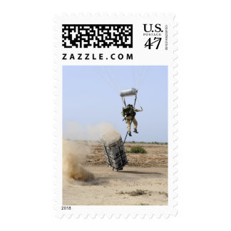 A pararescueman drops into the zone postage