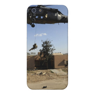 A pararescueman rappels from an HH-60 2 Cover For iPhone 5/5S