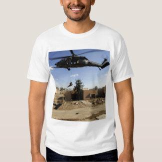 A pararescueman rappels from an HH-60 2 T Shirt