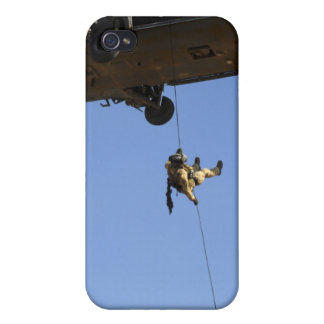 A pararescueman rappels from an HH-60 iPhone 4/4S Cover