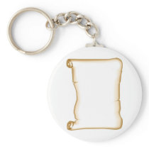 A Parchment Scroll Keychain