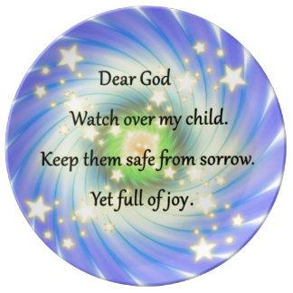 A Parents Prayer Porcelain Plate