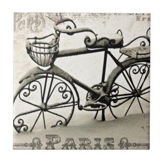 A Parisian Bicycle Ceramic Tile