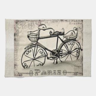A Parisian Bicycle Hand Towel
