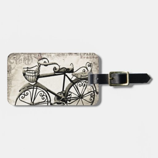 A Parisian Bicycle Luggage Tags