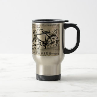 A Parisian Bicycle 15 Oz Stainless Steel Travel Mug
