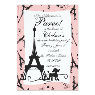 "A Parisian Party 5"" X 7"" Invitation Card"