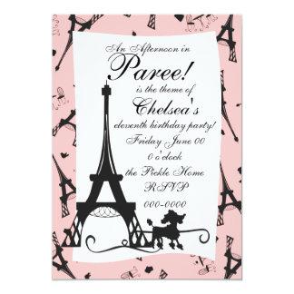 A Parisian Party Personalized Invite