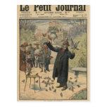 A Parisian type, the bird charmer of the Post Card
