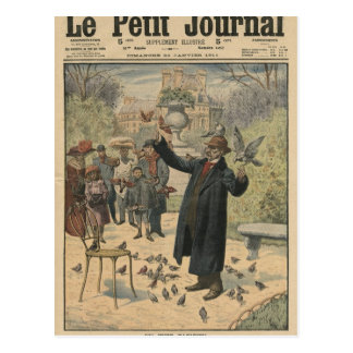A Parisian type, the bird charmer of the Postcard