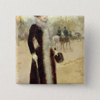 A Parisian Woman in the Bois de Boulogne, c.1899 Button