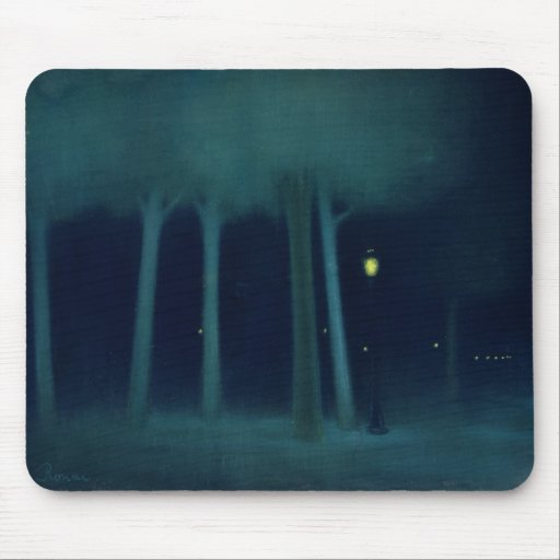 A Park at Night, c.1892-95 Mouse Pad