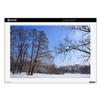 A Park Covered With Snow Skins For Laptops