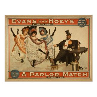 A Parlor Match, 'Enough Said' Retro Theater Postcard