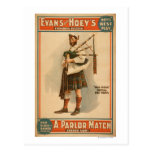 "A parlor Match ""Old Hoss"" Scottish Bagpiper Post Cards"