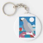 A Parrot in Paradise Basic Round Button Keychain