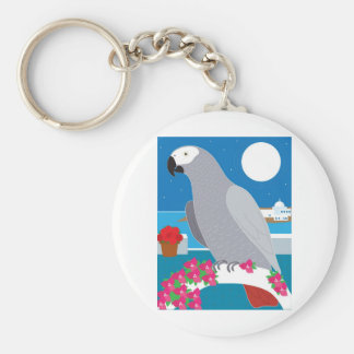 A Parrot in Paradise Key Chain
