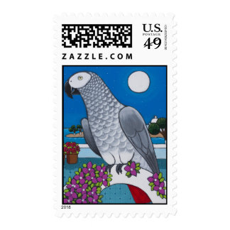 A Parrot in Paradise Stamp
