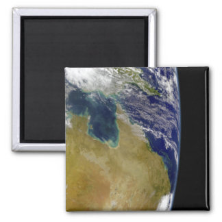 A partial view of Earth showing Australia 2 Inch Square Magnet