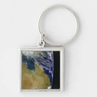A partial view of Earth showing Australia Key Chain