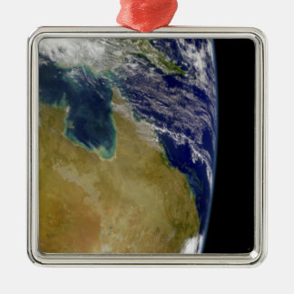 A partial view of Earth showing Australia Metal Ornament
