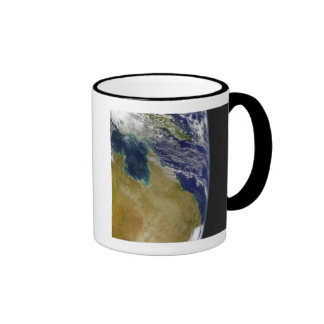 A partial view of Earth showing Australia Ringer Mug