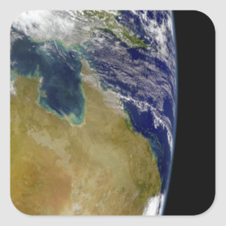 A partial view of Earth showing Australia Square Sticker