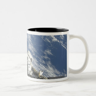 A partial view of Space Shuttle Atlantis Two-Tone Coffee Mug