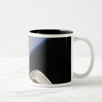 A partial view of Space Shuttle Endeavour Two-Tone Coffee Mug