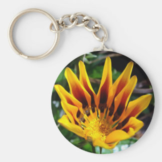 A Partially Opened Yellow and Burgundy Petal Gazan Keychain