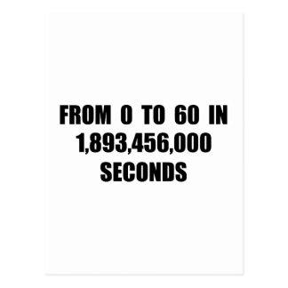 A partir la 0 a 60 en segundos postal