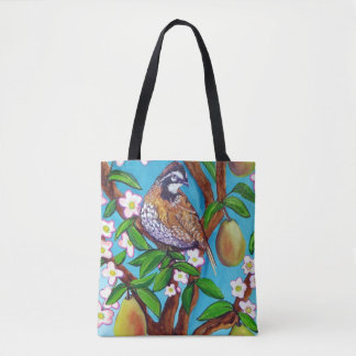A Partridge In A Blooming Pear Tree Tote Bag
