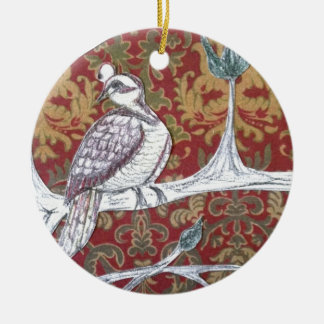 A Partridge in a Pear Tree 3.0 Double-Sided Ceramic Round Christmas Ornament