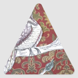 A Partridge in a Pear Tree 3.0 Triangle Sticker