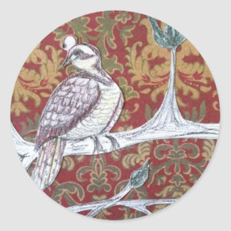 A Partridge in a Pear Tree 3.0 Round Stickers