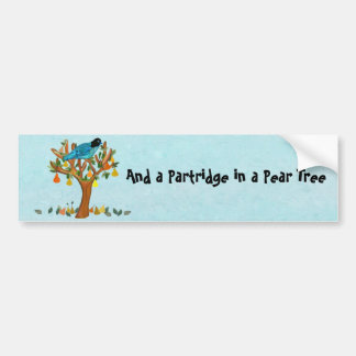 A Partridge in a Pear Tree Bumper Sticker Car Bumper Sticker