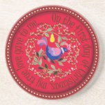 A partridge  in a pear tree drink coaster