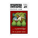 a partridge in a pear tree postage stamp