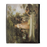 A Party Angling (oil on canvas) iPad Folio Covers