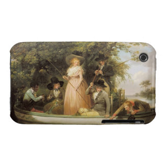 A Party Angling (oil on canvas) iPhone 3 Case
