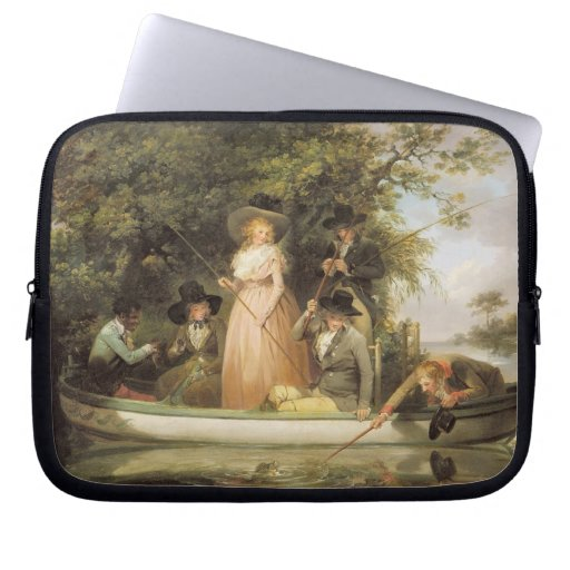 A Party Angling (oil on canvas) Laptop Sleeves