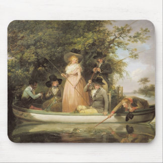 A Party Angling (oil on canvas) Mouse Pad