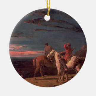 A Party of Explorers, 1851 (oil on canvas) Ceramic Ornament