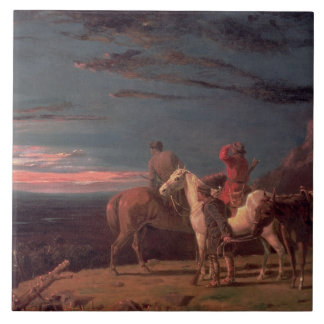 A Party of Explorers, 1851 (oil on canvas) Ceramic Tile