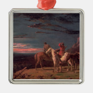 A Party of Explorers, 1851 (oil on canvas) Metal Ornament