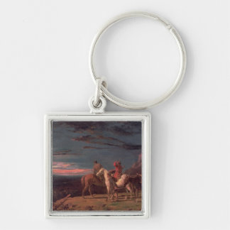 A Party of Explorers, 1851 (oil on canvas) Silver-Colored Square Keychain