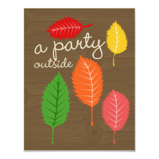 a party outside card